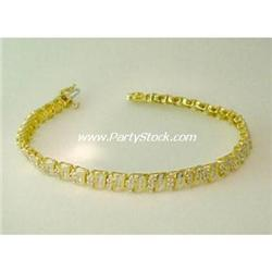 DELICATE DIAMOND & 14K YELLOW GOLD BRACELET 7 INC