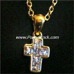 14K GOLD PLATED CROSS NECKLACE 20 INCH