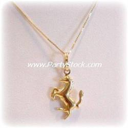 14K SOLID GOLD STALLION FERRARI PENDANT JEWELRY