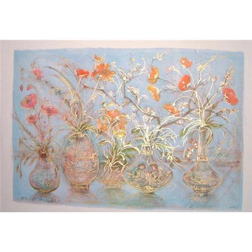 Freedom 39 s flowers litho by edna hibel 858502 - Flowers that mean freedom ...