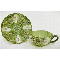 Exquisite Moriage Cup & Saucer #859407