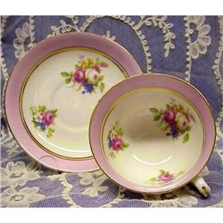 Staffordshire China Cup & Saucer #859421