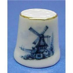 Blue Windmill China THIMBLE #859456