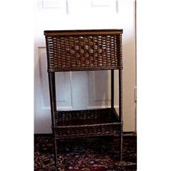 WICKER SEWING STAND W/SHELF #859464