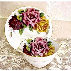 Early Aynsley Tea Cup & Saucer - 3 Roses #859468