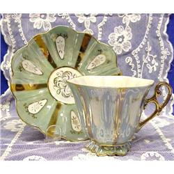 40's Fine China Cup & Saucer LUSTER #859472