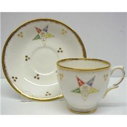 Order of Eastern Star CUP & SAUCER #859484