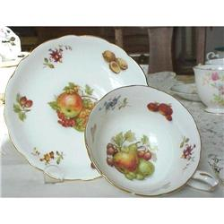 Hammersley China Cup & Saucer FRUITS #859486