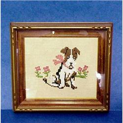 Framed Needlework Picture  #859496