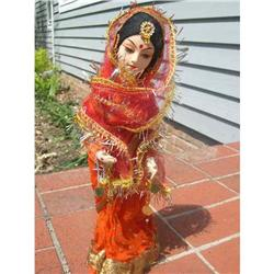India doll with composition/plaster face red #859513