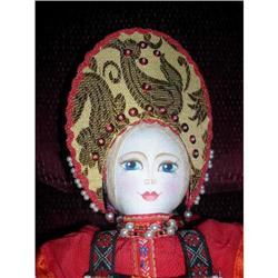 Russian cloth doll with printed features #859518