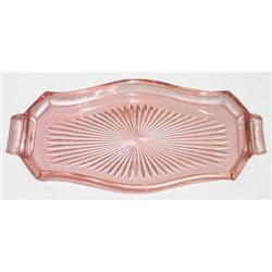 Pink Depression Glass Deco Vanity Tray #859667