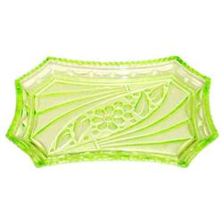 Green Depression Glass Sowerby Vanity Tray  #859668