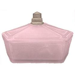 Geometric Pink Satin Glass Art Deco Powder Jar #859705