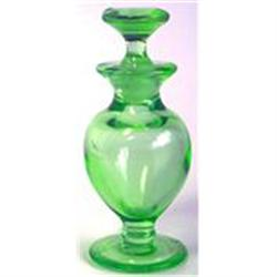 Green Depression Glass Perfume Bottle 2 #859715