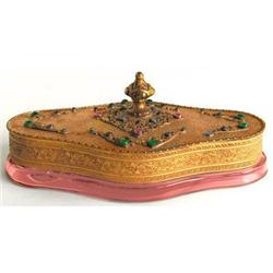APOLLO Jeweled & Filigree Amber Vanity Compact #859718
