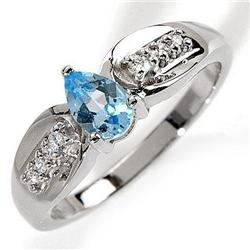 Blue Topaz  and Diamond  Ring #859915