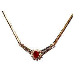 Ruby and Diamond Necklace #859917