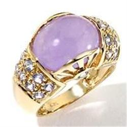 Lavender Jade and Tanzanite Ring #859920