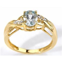 Aquamarine and Diamond Ring #859921