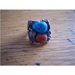 Large Turquoise and Coral Ring #859936