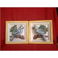 Bird Plaques Blue Jays Universal Statuary 1951 #860506