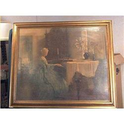 Marguerite Pearson Print  A Woman Piano Player  #860515