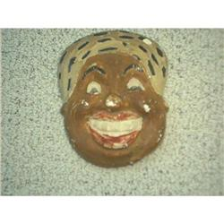 Chalkware Face of Black Woman #860523