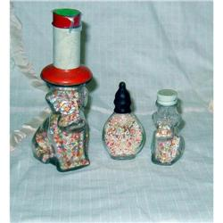 3 Glass Sprinkle Dog Candy Holders #860538