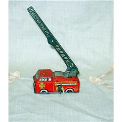 Old Tin Windup Yone Japan Fire Engine Truck #860540