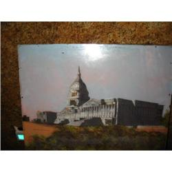 US Capitol Reverse painting on glass  #867085