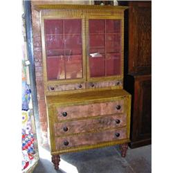 Paint Decorated Secretary Desk--Early 1800's #867106