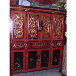 Oriental Lacquered Cupboard #867127