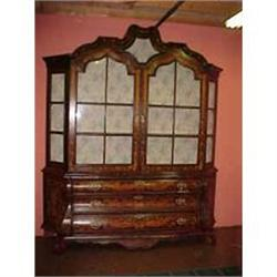 MARQUETRY BOOKCASE CABINET CUPBOARD #867188