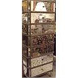 MIRRORED CHEST OF DRAWERS DRESSER COMMODE #867193