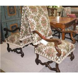 Pair walnut Louis XIII end chairs #867222