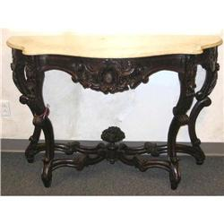 Rococo Marble Top Console Table - Victorian #867227