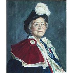Portrait of The Queen Mother (1900-2002) by #867233