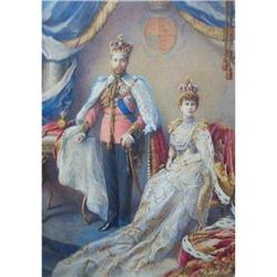Portrait of King George V & Queen Mary  #867260
