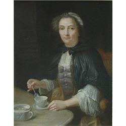 Portrait of a Lady seated at a table #867289