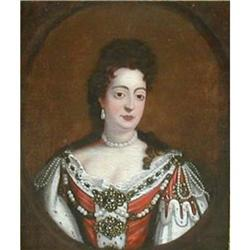 Portrait of  Queen Mary, manner of Kneller #867293