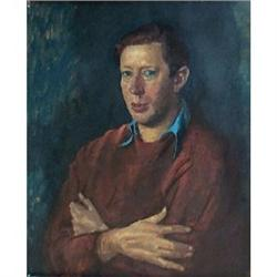 Portrait of Laurie Lee (1914-1997), painted by #867296