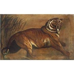 A prowling Tiger, painted within English School #867299