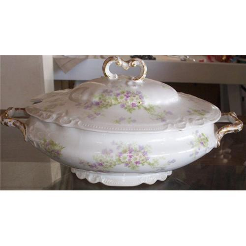 Old Coronet Limoges France Antique Soup Tureen #882289