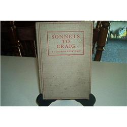 Book-Sonnets To Craig-George Sterling #862834