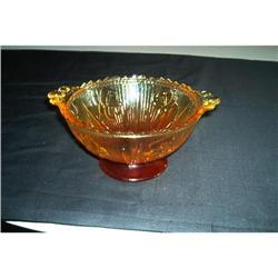 Glass-Iris Crystal Amberina Candy Dish #862855