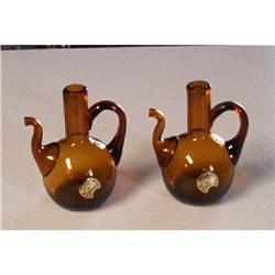 Handblown Amber Decorative Creamers #862870