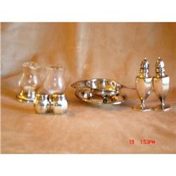 Sterling S&P Shakers and Silverplate Tea #862991