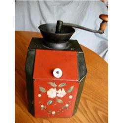 Antique Painted Box Coffee Mill #863006