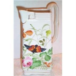 Hand Painted Limoges Butterfly Pitcher #863405